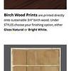 Birch Wood Prints