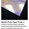 Metallic Photo Paper