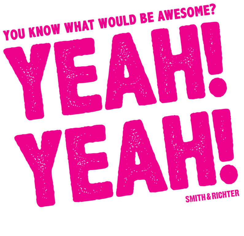 yeah yeah shirt logo 10x10 v5 Print Pink