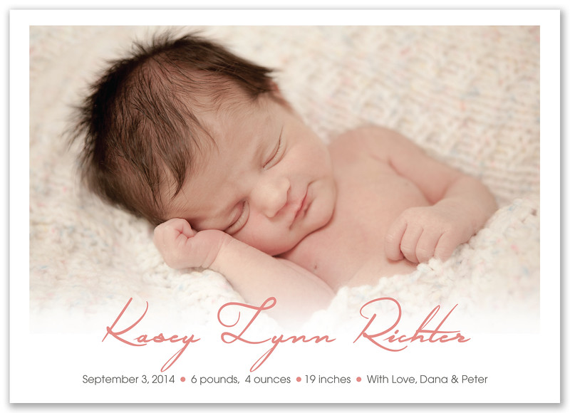 kasey lynn birth announcement 7x5 v5 Front only
