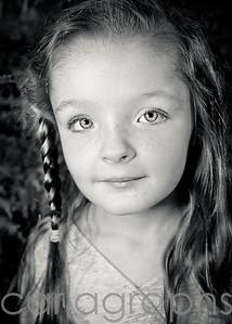 Olivia's eyes bw-