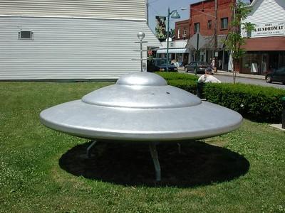 Spacecraft looms in a field near a street in MARS, PA!!