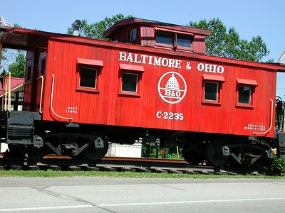 This nice railroad car greets you upon entering or leaving MARS, PA.  This is an indication of an advanced network of lines crosses the surface of MARS.