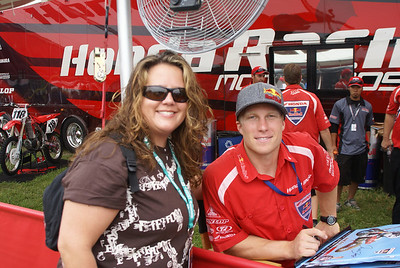 My wife with Andrew Short at Unadilla.