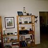 bookshelves in guest bedroom--the door goes into the living room.