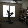 Guest bedroom/workout room/library.
