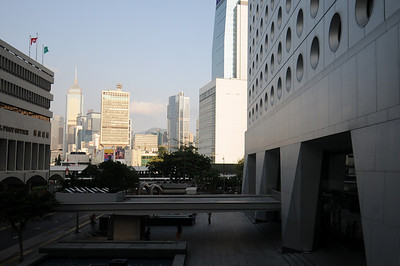 Looking East at the Jardine House on the right