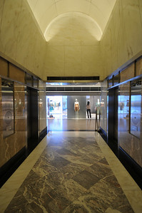 2nd floor lift lobby, which leads to The Landmark, one of HK's premiere luxury malls.