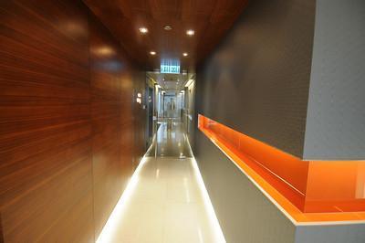 Towards the door...coolest corridor/entrance ever.