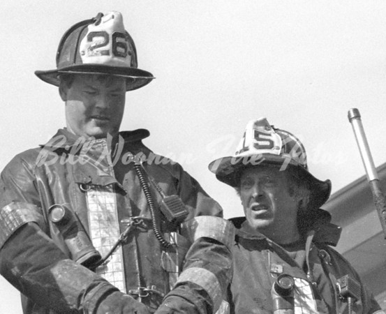 A once in a career photo...Fire Lt. Kevin Kelley, Ladder Co. 26 and Fire Lt. Steve Minehan, Ladder Co. 15 who both died in the LINE of DUTY at different incidents...