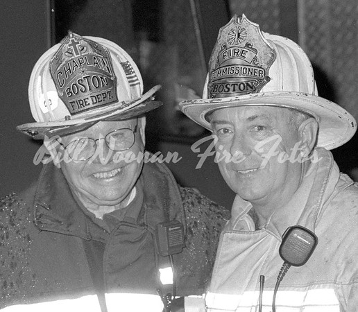 the Chaplain and the boss...at a 4th alarm on Telegraph Street