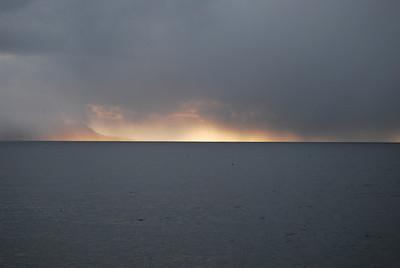 Lake on fire?