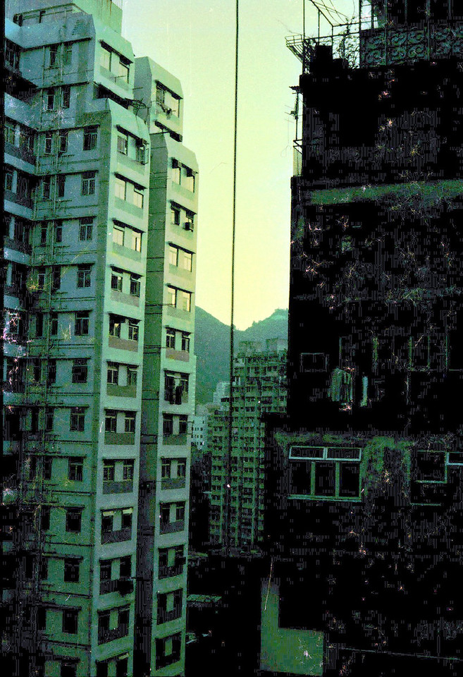 03/1981 Outside our bedroom window. Wan Chai afar or Happy Valley
