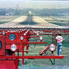 June, 1985. At McKeller Park in Memphis, golfers and planes coexisted side by side