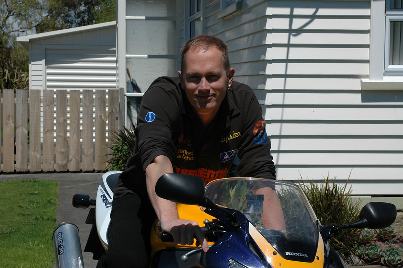 The Honda Fireblade I had in New Zealand, it was awesome. Took it to Holland and eventually sold it.