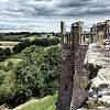 The contrast of the lush green hills and the stark rough edges of the castle were breathtaking