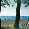 1955, Beach where I used to Life Guard. 1953 Oldsmobile?