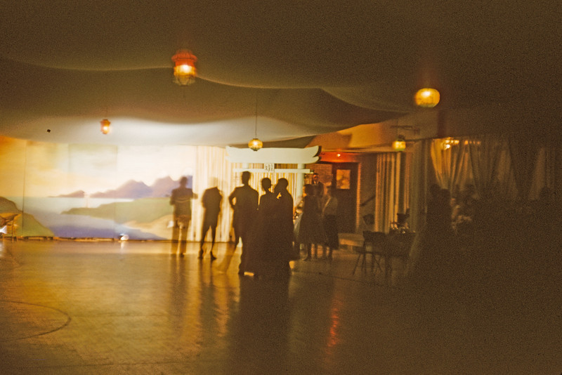 My High School Prom.  1957. All the wall decorations were made by the class.  The Gym had a tarp and lights that was hung from the ceiling just for this event.