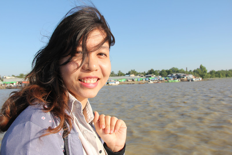Christy (colleague) in the delta