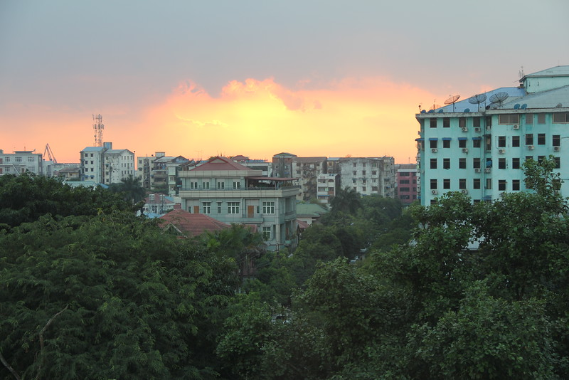 view from our kitchen in yangon