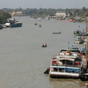 View of Myaungmya in the delta from a bridge