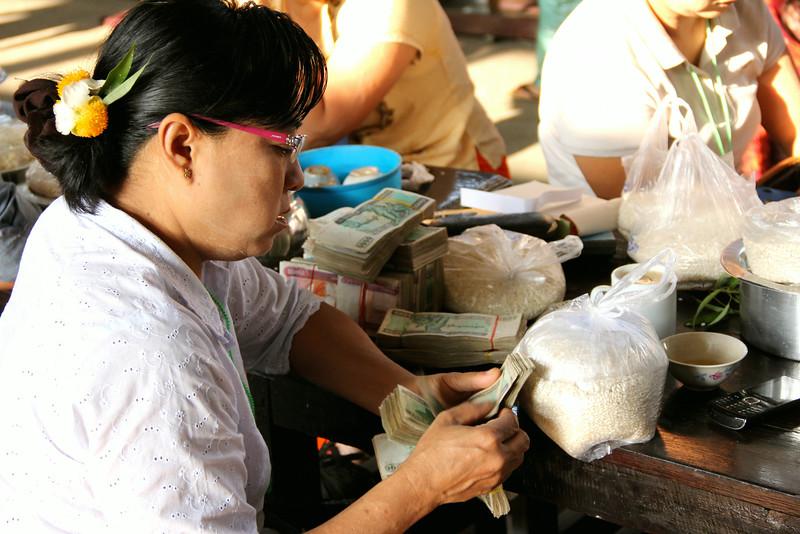 Yangon rice market
