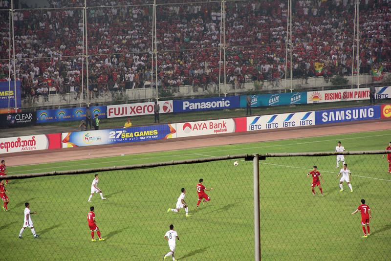 SEA Games soccer match in Yangon - Myanmar vs. Thailand