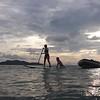 Paddle board. Mergui Archipelago