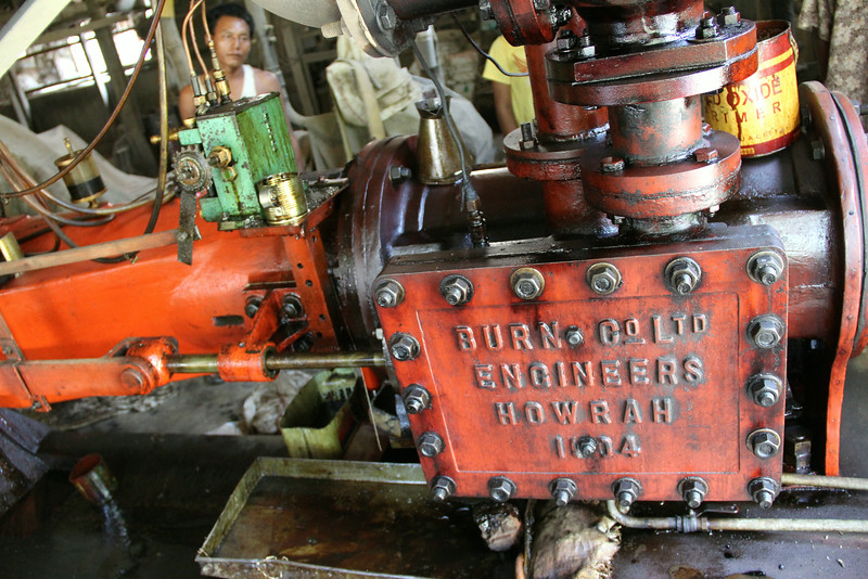 Old British rice mill engine