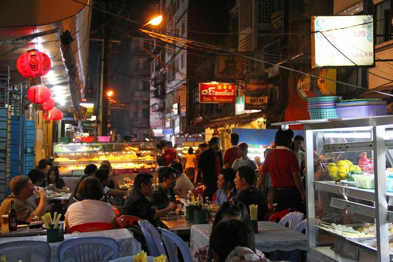19th street in yangon