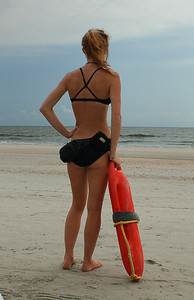 This is lifeguard #2. Yep...I asked her for the same pose...and for the same reason too.