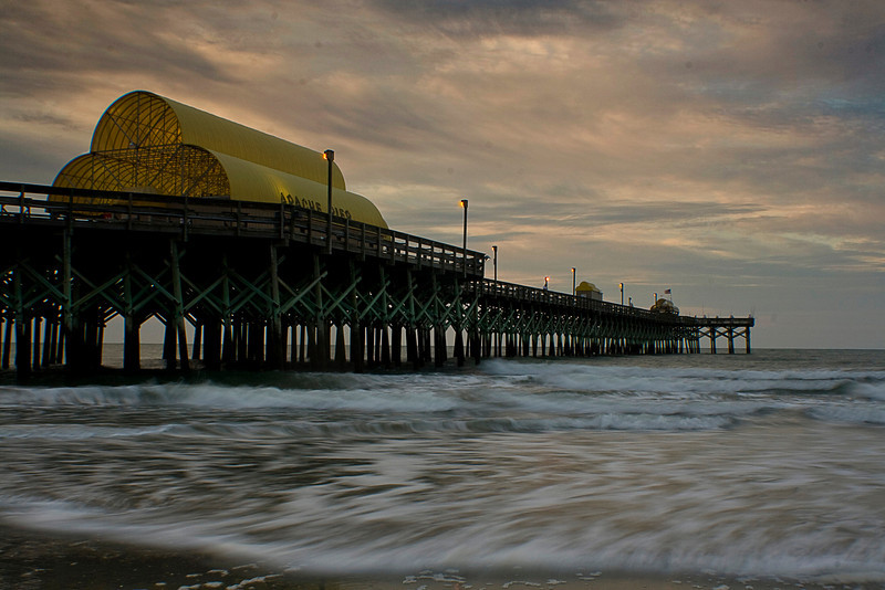 Apache pier around 6 AM...yep, that's right...I was walking on the beach at 6 AM.