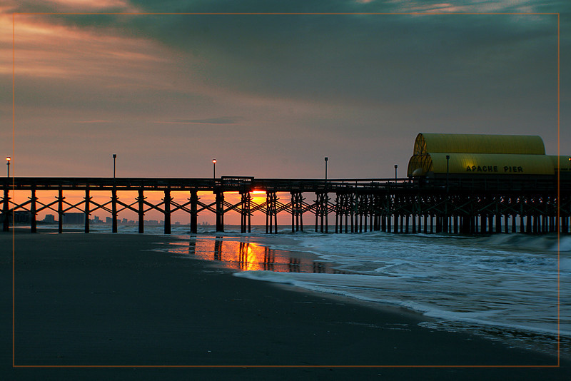 Apache pier at sunrise.