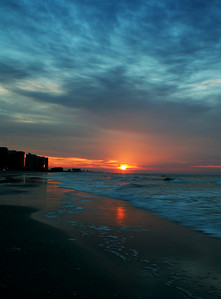 Sunrise at Myrtle Beach.