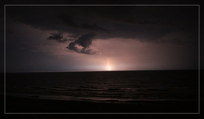 Lightning strike as the storm moved out to sea.