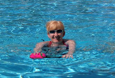 Lizzie takes a dip.
