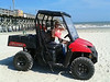 Lizzie borrows a beachbuggy.