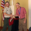 John Bass, who was a  former student, shares a chuckle with Dr. Pitts, following John's very interesting talk..