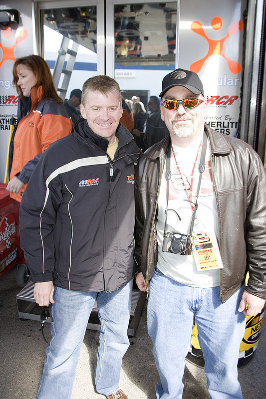 Jeff Burton and some other Famous Driver on the Right