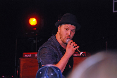 Gavin DeGraw. Put on a pretty good show, for someone I had never heard of before and whose music I don't especially like. As part of our TWC free tickets, we got fed and watered and entertained.