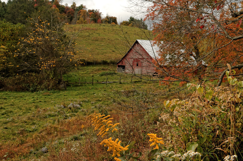 Barn at Meat Camp community, Hwy 194