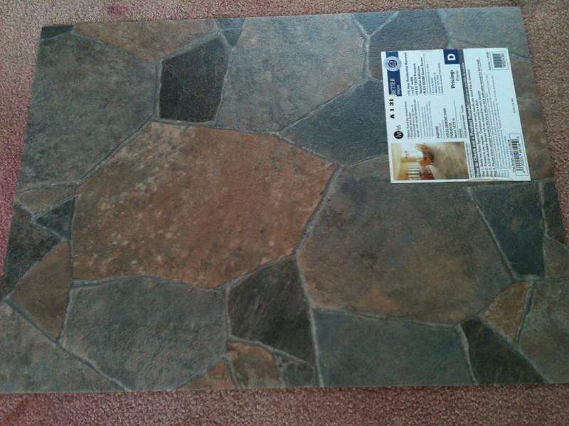 New vinyl floor