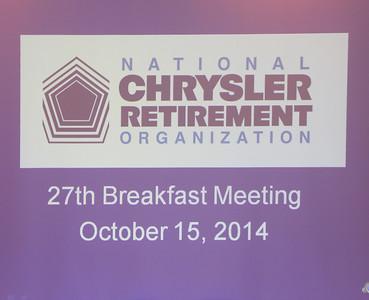 NCRO Meeting 2014 10 15