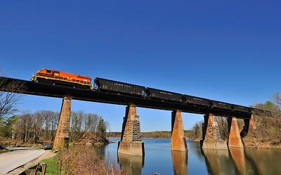 New England Central, Chip Train, Georgia, Vermont