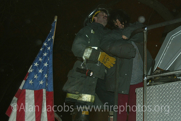 A cold night 2/11/03, 311 alarm fire 2121 W. Washington<br /> 10°F sustained 20 mph wind from NW.