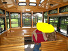 Again, not my photo, but shows the beautiful oak interior. I considered putting Donna & Linda's heads on these people for a laugh, but I'm not that skilled with photo editing, as you can see.   :-)