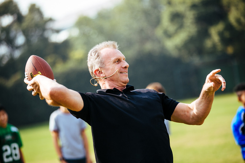 November 16 - Joe Montana works with youth football players in Shanghai (NFL China)
