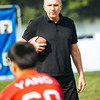 November 16 - Joe Montana works with youth football players at a clinic in Shanghai (NFL China)