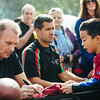 November 16 - Joe Montana signs autographs for youth football players in Shanghai (NFL China)