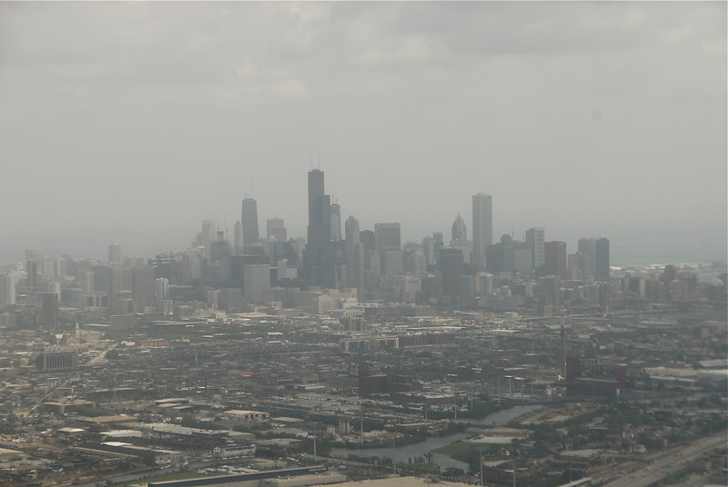 The Chicago Skyline from the air